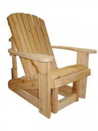 Adirondack Glider 20`` Seat Width - Glide your day away