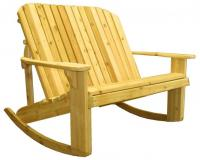Adirondack Loveseat Rocker 44`` Seat Width -  Designed for love birds with room for two to curl up in!